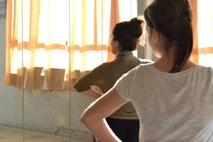Sara Martín en clases