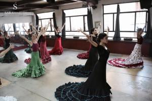Curso Intensivo Bata de Cola junio 2015 Sara Martin Flamenco