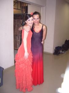 Sara martín Flamenco con Aída Gómez